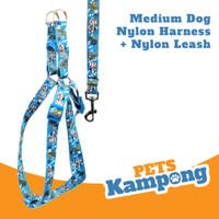 Tali Tuntun Harness Anjing medium Bahan Nylon 20 mm