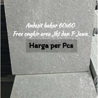 Batu alam Batu andesit bakar 60x60 Pabrik Batu alam Cirebon