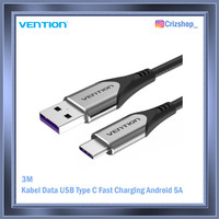 3M Kabel Data USB Type C Fast Charging Android 5A Grey Vention