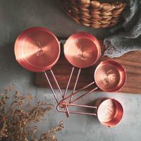 Measuring Cups Rose Gold Set Stainless (Sendok Takar Rosegold)