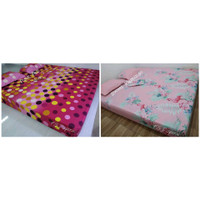 sprei homemade ukuran 120x200 - single motif abstrak netral minimalis