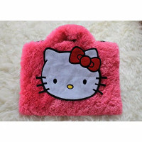 Tas Laptop Hallo kitty Rasfur Bulu lebat 10-17 Inch Softcase Slim
