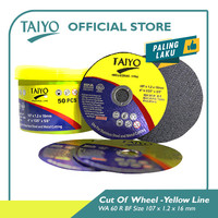 Taiyo WA 60 R BF Cut Of Wheel Yellow Line For Metal & Stainless 100mm