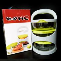 Lariswish Rantang Kaca 3 Susun - Bowl Glass - Tempat Bekal Kaca