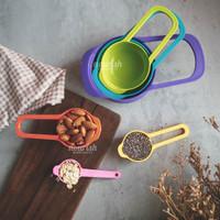 6in1 Measuring Spoon Cup Set Sendok Takar Ukur BPA-Free