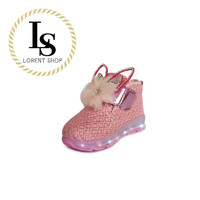 Fashion Shoes Kids Boots LED Perempuan, Glitter lampu, Pesta karenina