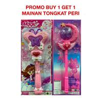 Buy 1 Get 1 Mainan Anak Perempuan Tongkat Peri Magic Wand Fairy Stick