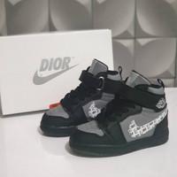 Sepatu Anak Nike Jordan Dior Hitam Abu-Abu Grade Original S