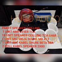 SPEAKER CEILLING TOA ZS 646R + AMPLIFIER TOA PAKET 3