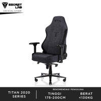 Secretlab TITAN 2020 Series Softweave Kursi Gaming - Black³