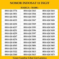 Nomor Cantik Indosat 10 digit Kartu Perdana 4G Ooredoo im3 mentari