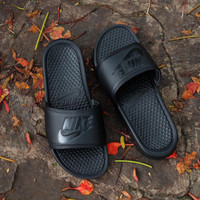 Sandal Nike Benassi Swoosh All Black Original BNWB