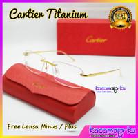 Kacamata Fremeles Titanium Gratis Lensa Minus Baca Premium