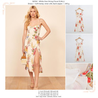 58762 - White One String Floral (S,M,L) - Dress - S