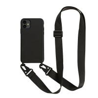 silikon hp iphone 6 7 8 plus xr sling case casing strap lanyard hp