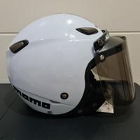 Helm JPN kawai momo putih gloss