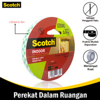 3M Double tape Monting - Dabel tip khusus tembok 12 mm x 3 mtr