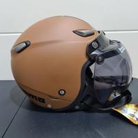 Helm JPN kawai momo coklat doff kaca bogo ori
