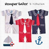 Baju Anak Bayi Cowok Laki-laki Romper Sailor 3-12 bulan