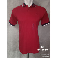 Baju kaos kerah pria merk nevada original merah polos