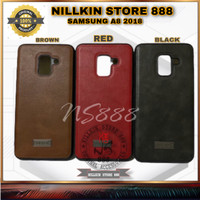 SAMSUNG GALAXY A8 2018 SULADA GENUINE LEATHER ORIGINAL CASE SHOCKPROOF