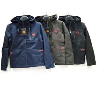 Jacket Pria Jaket Parasut Parasit Topi Import - Mario Zegnoti (#2013) - Hitam, XL