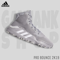 Sepatu Basket Pria ADIDAS Pro Bounce 2K19 High Grey 100% Original BNIB