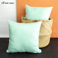 SARUNG BANTAL SOFA KURSI POLOS KATUN 45x45 45 X 45 LIGHT MINT GREEN