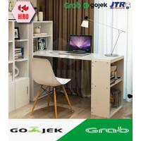 Meja Kerja / Meja Belajar Minimalis Best Bwork 120*46*120cm - 3 Warna - Walnut