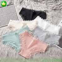 Celana dalam wanita Brief Bahan Katun Breathable dengan Renda TERLARIS