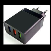 Adaptor Charger USB 3 Port 2.4A Adapter Cajer Kepala Casan