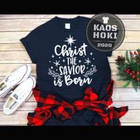 BAJU KAOS EDISI NATAL/CHRISTMAS T-SHIRT PRIA WANITA UNISEX CHRIST THE