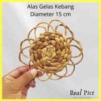 Tatakan Gelas Enceng Model Kembang / Alas gelas Kembang / Coster Kemba