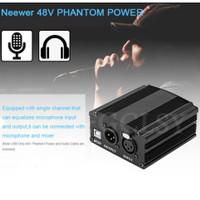 phantom 48v power supply kondenser mikrofon mic studio rekaman karaoke