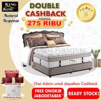 King Koil Set Kasur Spring Bed Natural Response 200 x 200