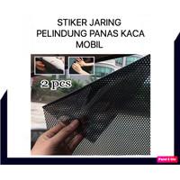STIKER JARING PELINDUNG PANAS KACA MOBIL SUN SHIELD UV PROTECTION