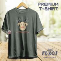 PREMIUM T-Shirt   Kaos Dewasa   Christmas   Rudolph Head