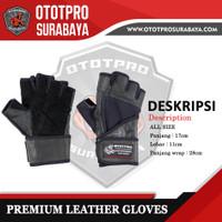 OTOTPRO Premium Leather Gloves/Sarung Tangan Fitness/ Glove Kulit/ Gym