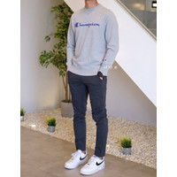 Champion Crewneck Basic Script Sweatshirt Grey