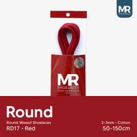 MR Shoelaces RD17 Merah RED Tali Sepatu Lilin Bulat 2-3mm 50cm-150cm - 50cm