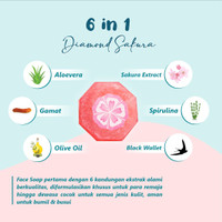 Face Soap Diamond Sakura Organik by Muslimah Beauty Care