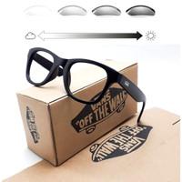 Frame kacamata VANS kacamata pria wanita + Lensa Photocromic Anti UV