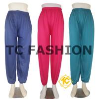Celana Aladin kerut / dalaman gamis kerut/ celamis kerut - Standard, Putih