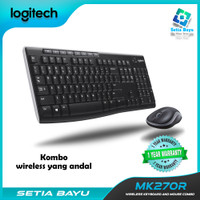 Keyboar Mouse Combo Logitech MK270R Wireless Dekstop Komputer Original
