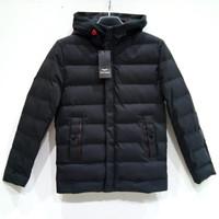 Jacket Pria Jaket Parasut Parasit Topi Import - Mario Zegnoti (#82107) - Hitam, XL