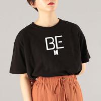 Atasan Tshirt Baju Kaos Wanita Remaja Cewek BTS BE READY Murah Terbaru - Hitam, S