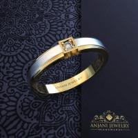 Cincin Kawin Perak Pria Free ukir nama dan kotak cincin