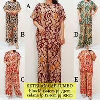 Babydoll Batik Jumbo Piyama Baju Tidur Setelan Babydoll Rayon PJB2