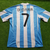 Jersey Argentina Home World Cup 2010 7 DI MARIA Original
