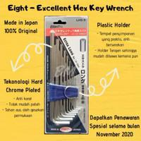Eight - Extra Long Hex Key Set / Kunci L set 1.5-10 mm Japan Product
